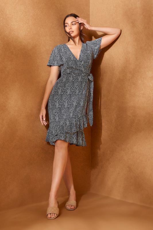 LTS Blue Leopard Print Frill Wrap Dress_L.jpg