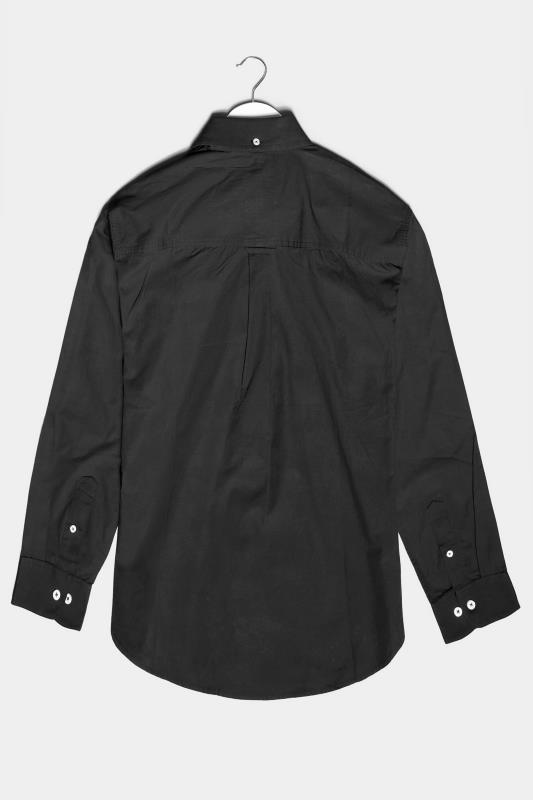 BadRhino Black Cotton Poplin Long Sleeve Shirt