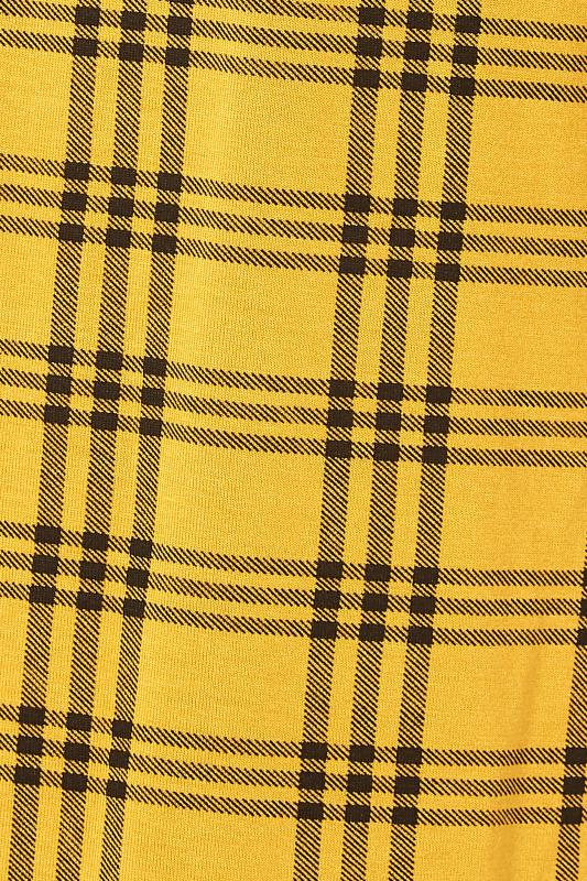 LIMITED COLLECTION Mustard Yellow Check Print Swing Top_S.jpg