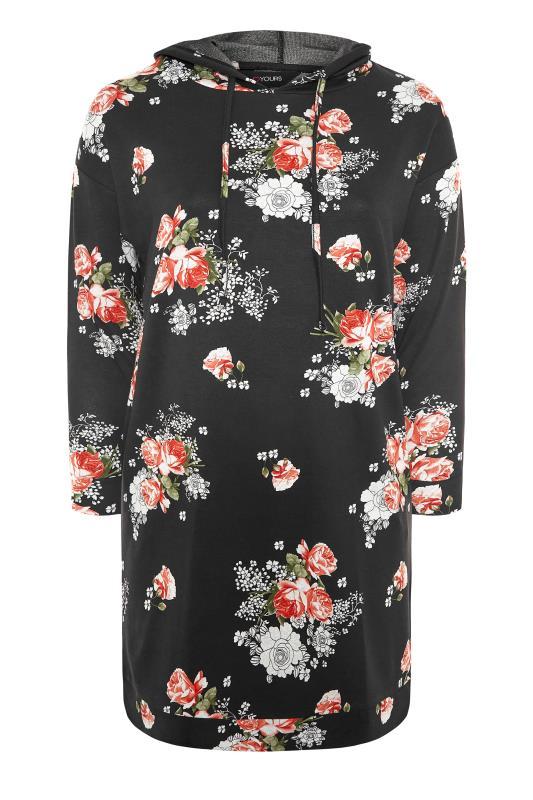 Black Floral Print Hoodie Dress_F.jpg
