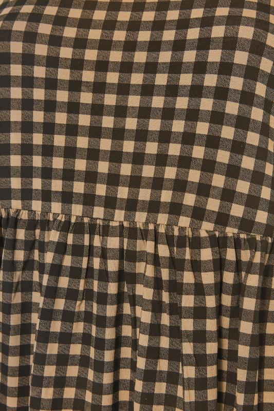 LIMITED COLLECTION Natural Gingham Smock Top_S.jpg