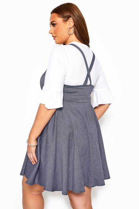 LIMITED COLLECTION Blue Denim Look Pinafore Dress