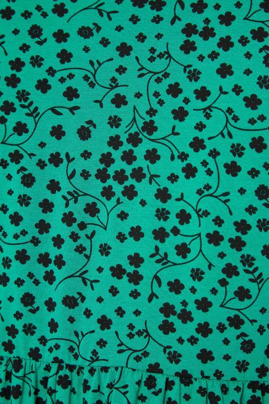 BUMP IT UP MATERNITY Green Floral Peplum Top_S.jpg