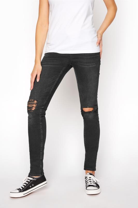 MAVI Black Alissa Skinny Ripped Jeans_B.jpg