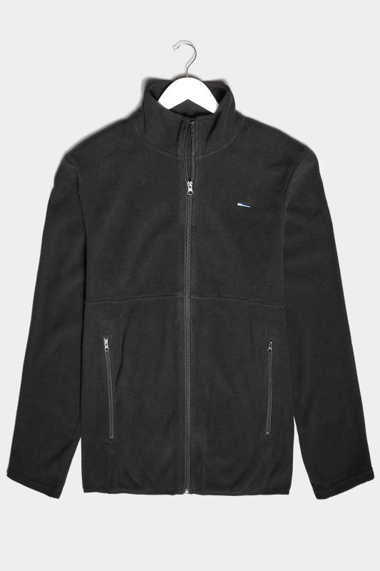 Men's  BadRhino Black Essential Zip Through Fleece