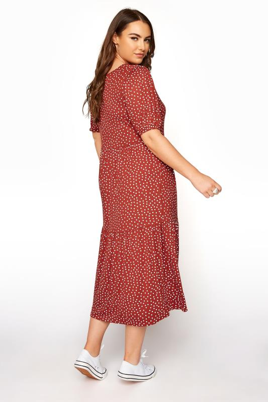 Rust Spot Print Puff Sleeve Midaxi Dress_C.jpg