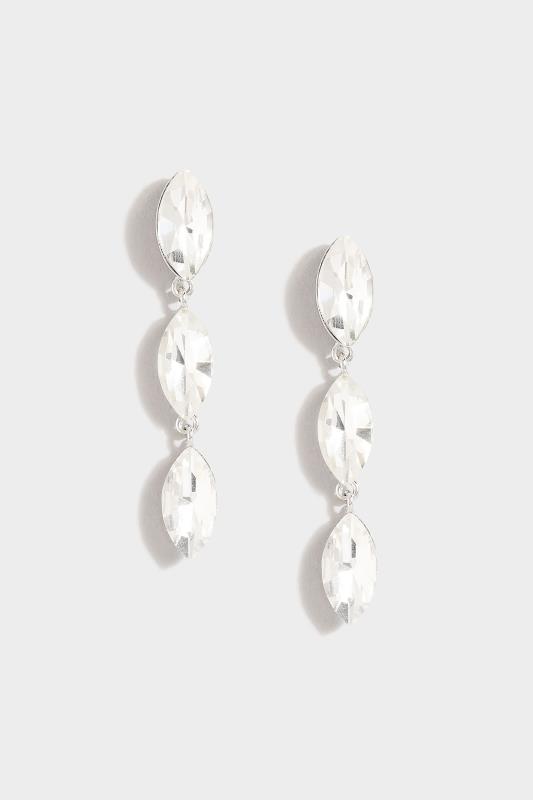 Silver Tone Teardrop Stone Earrings_A.jpg