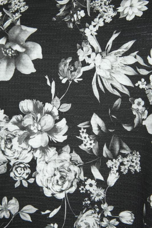 Black Floral Print Side Split Tunic_S.jpg
