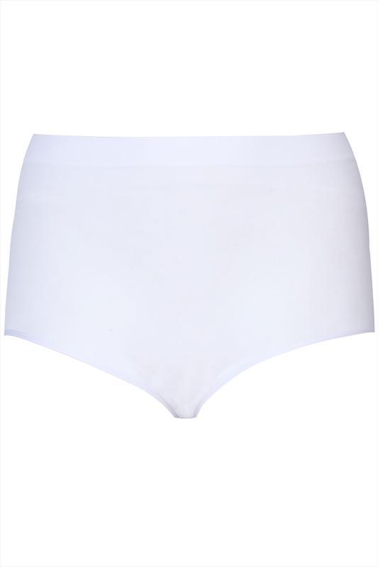 Nahtloser figurformender Taillenslip - Weiß