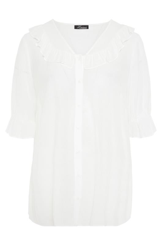 THE LIMITED EDIT White Button Frill Blouse_F.jpg