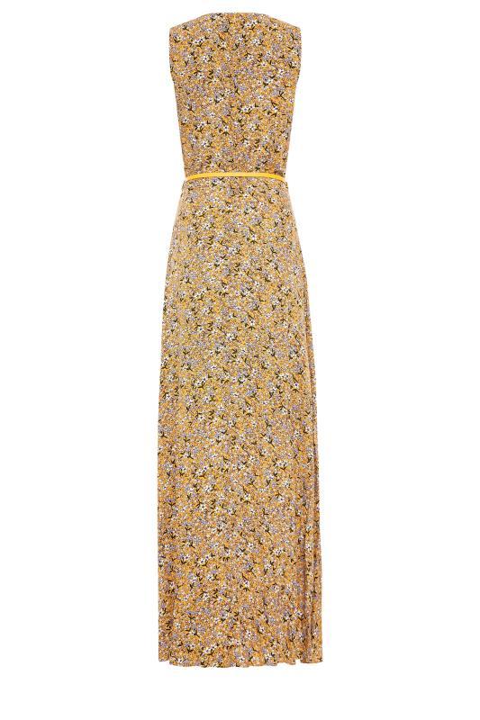 LTS Yellow Ditsy Sleeveless Fitted Maxi Dress_BK.jpg