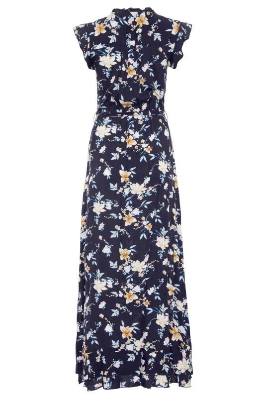 LTS Navy Floral Belted Tie Maxi Dress_BK.jpg