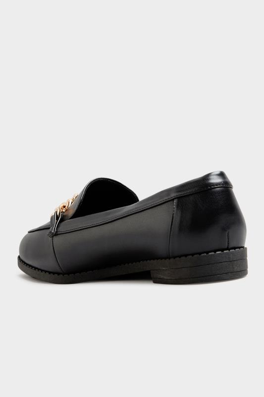 Black Chain Loafers In Extra Wide Fit_D.jpg