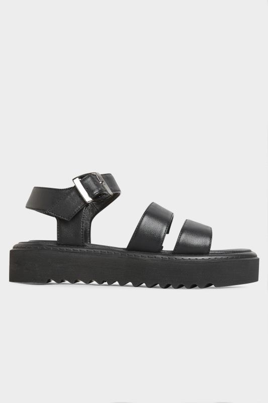 LIMITED COLLECTION Black Chunky Strap Sandals In Extra Wide Fit_A.jpg
