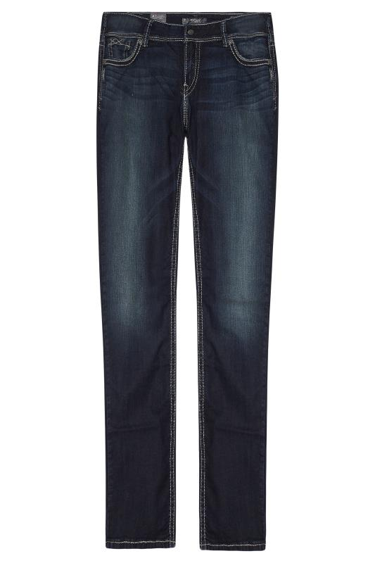 SILVER JEANS Dark Blue Washed Slim Leg Jeans
