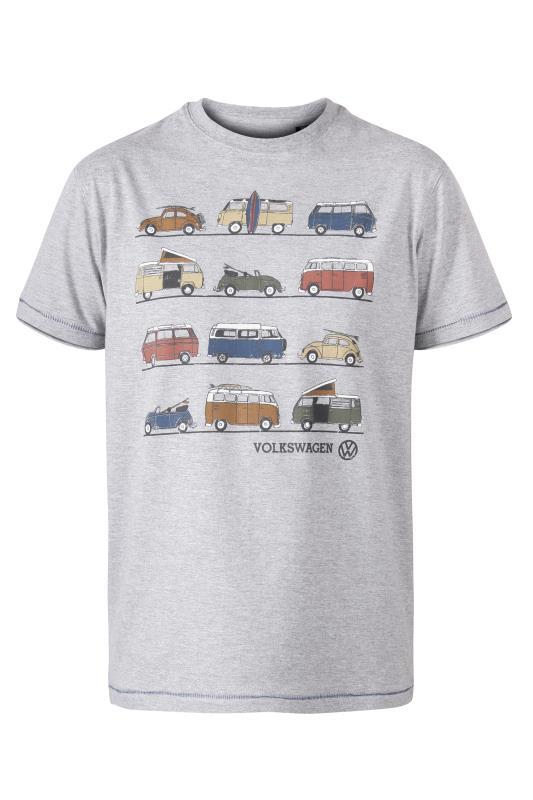 D555 Grey Trio Multi Vehicle Printed T-Shirt
