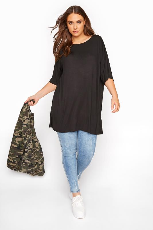 Schwarzes Oversized T-Shirt