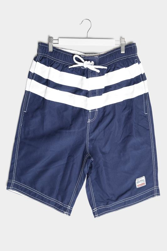 BadRhino Navy Panel Swim Shorts