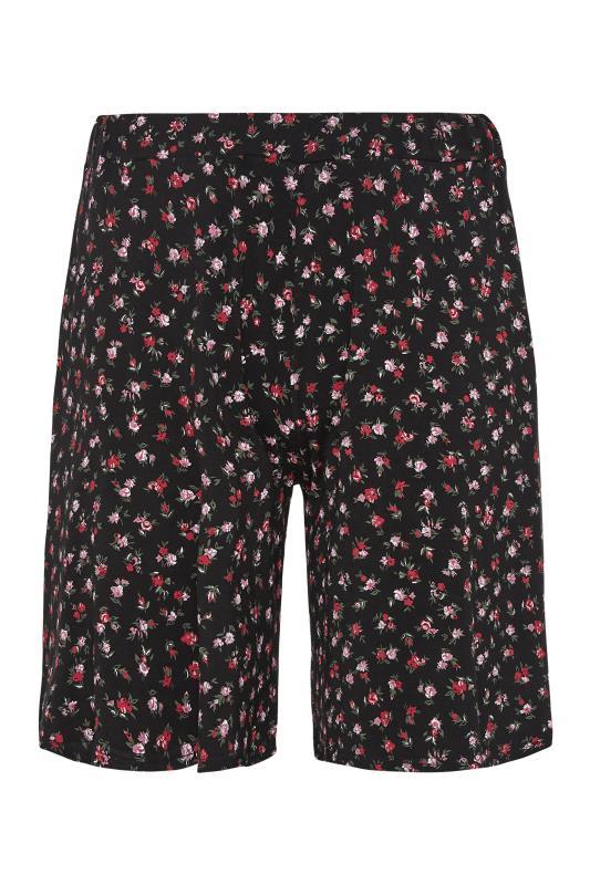Black Floral Print Jersey Shorts_F.jpg