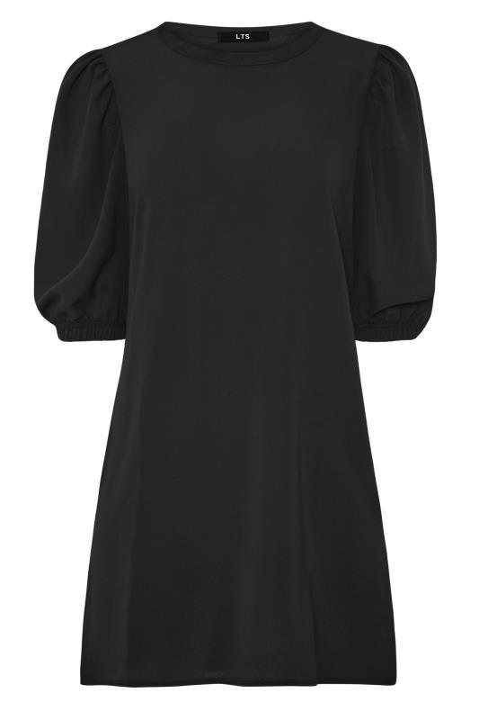 LTS Black Puff Sleeve Tunic Dress
