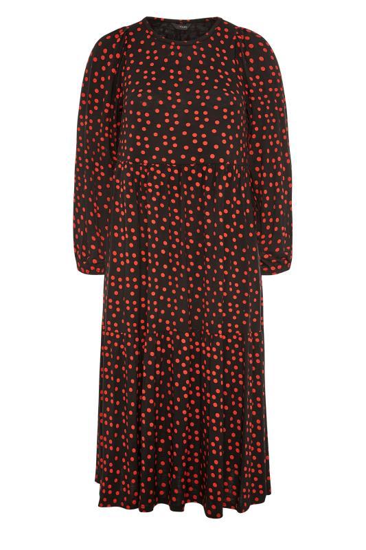 Black Polka Dot Peplum Midaxi Dress_F.jpg