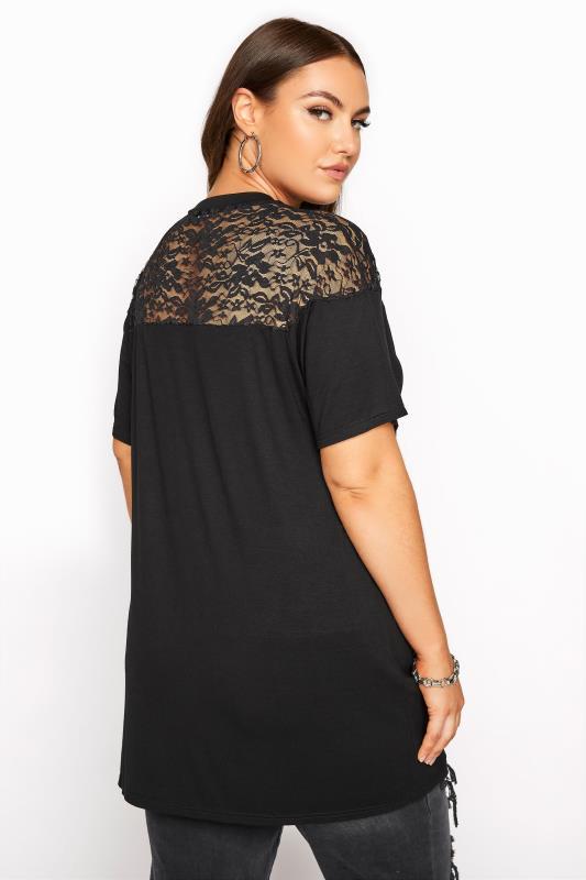 LIMITED COLLECTION Black Lace Yoke T-Shirt_C.jpg