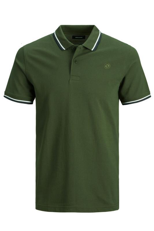JACK & JONES Khaki Cotton Pique Polo Shirt