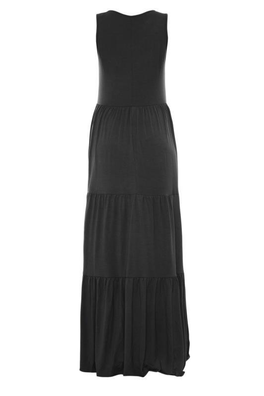 LTS Maternity Black Tiered Maxi Dress_BK.jpg