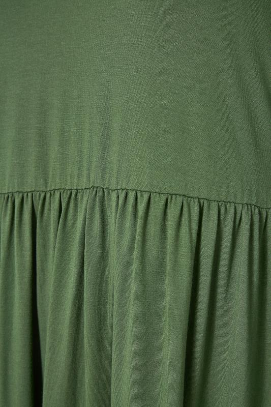 LIMITED COLLECTION Khaki Smock Midi Dress_S.jpg