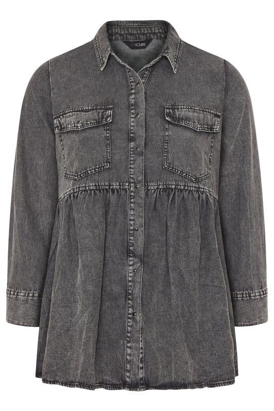 Grey Smock Denim Shirt