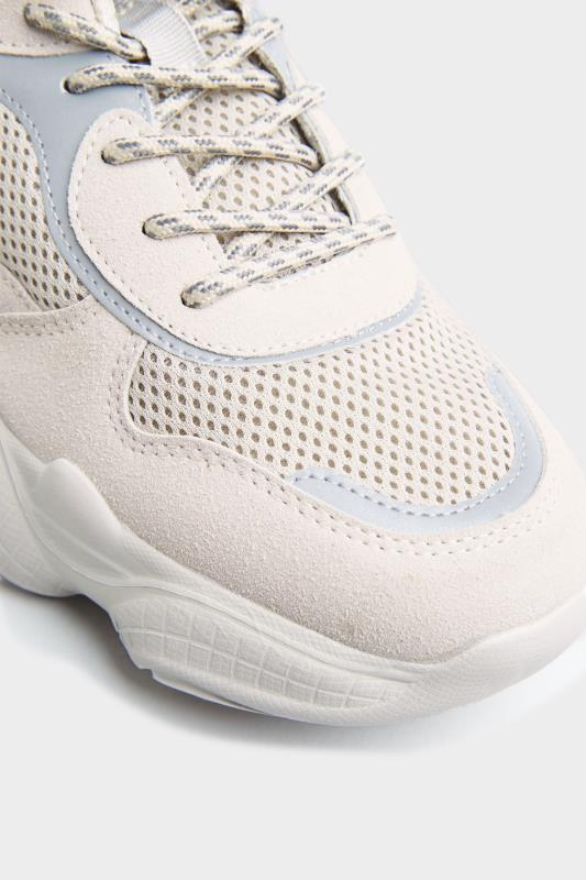 LIMITED COLLECTION Stone Mesh Lace Up Chunky Trainers In Regular Fit_D.jpg