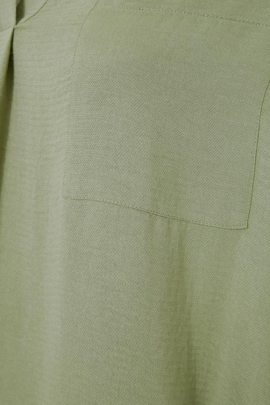 THE LIMITED EDIT Olive Green Pleated Front Top_S.jpg