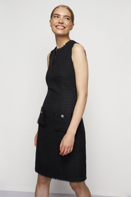 Karl Lagerfeld Black Paris Tweed Dress