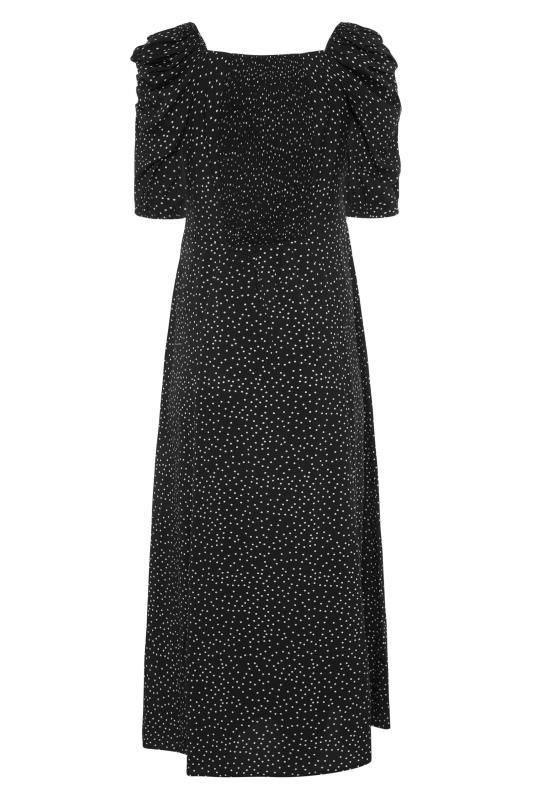 LTS Black Polka Dot Puff Sleeve Midaxi Dress_BK.jpg