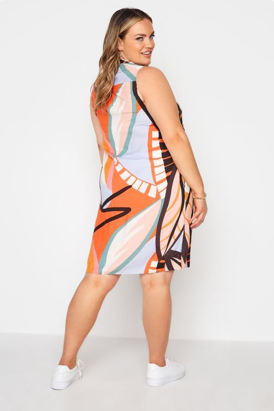 Orange Abstract Midi Dress_C.jpg