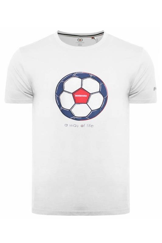 LAMBRETTA White Printed Cotton T-Shirt
