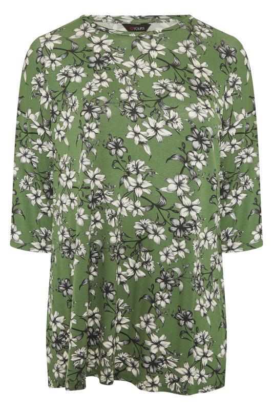 Green Floral Split Hem Tunic_F.jpg