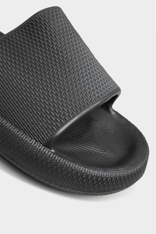 LIMITED COLLECTION Black Eva Sliders In Extra Wide Fit_E.jpg