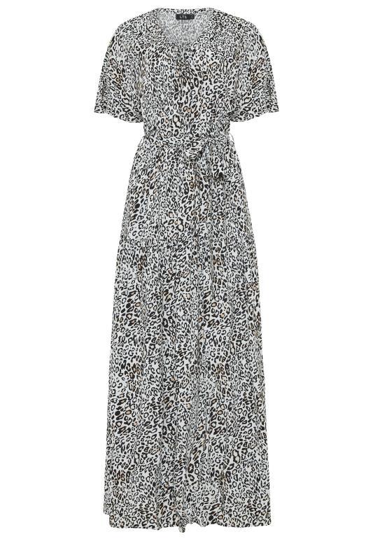 LTS White Animal Print Gathered Tie Front Maxi Dress_f.jpg