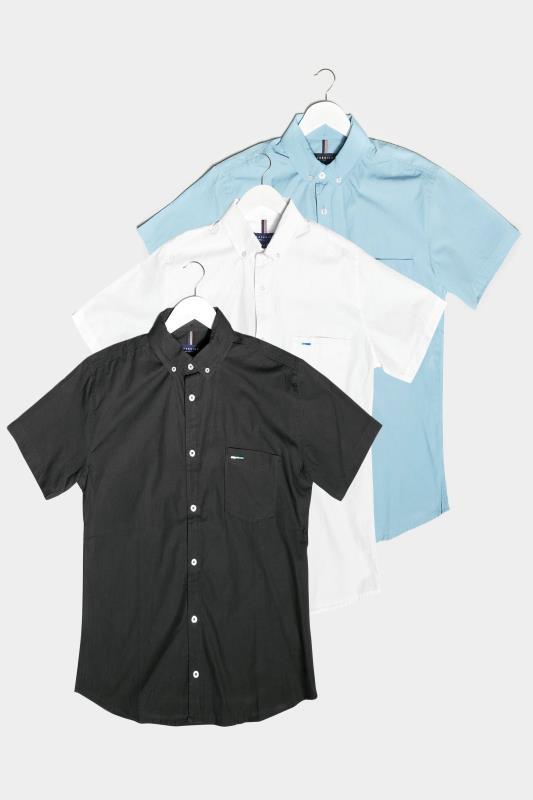 Men's  BadRhino Multi 3 Pack Short Sleeve Oxford Shirts