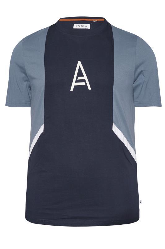 Plus Size  STUDIO A Navy Cut & Sew T-Shirt