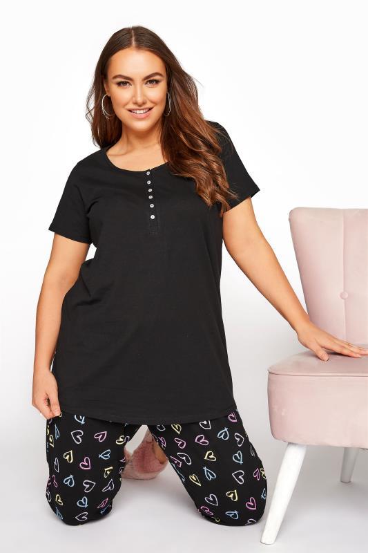 Black Button Scoop Neck Pyjama Top_A.jpg