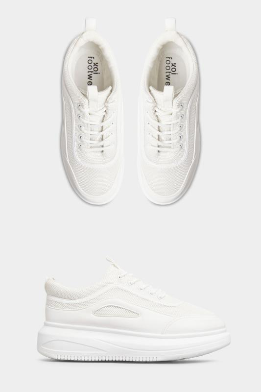 LIMITED COLLECTION White Platform Sporty Trainers In Regular Fit