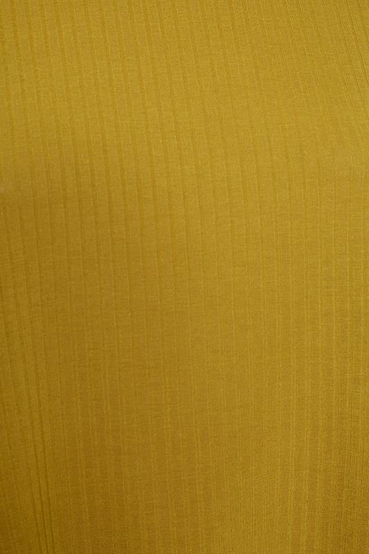 LIMITED COLLECTION Mustard Yellow Puff Sleeve Ribbed Top_S.jpg