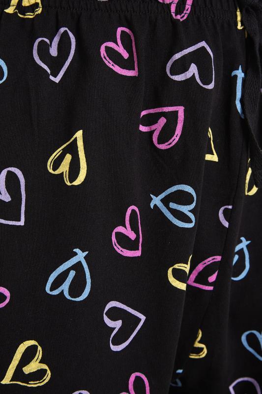 Black Sketch Heart Pyjama Bottoms_S.jpg