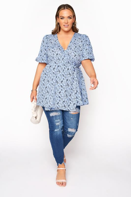 LIMITED COLLECTION Blue Paisley Print Wrap Top_B.jpg