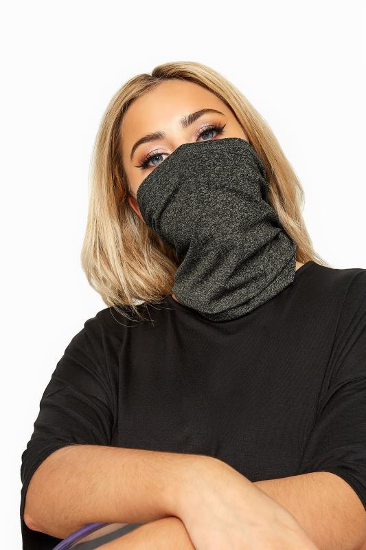 Tallas Grandes Charcoal Grey Snood Face Mask