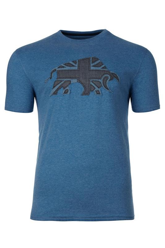Grande Taille RAGING BULL Blue Velvet Logo T-Shirt