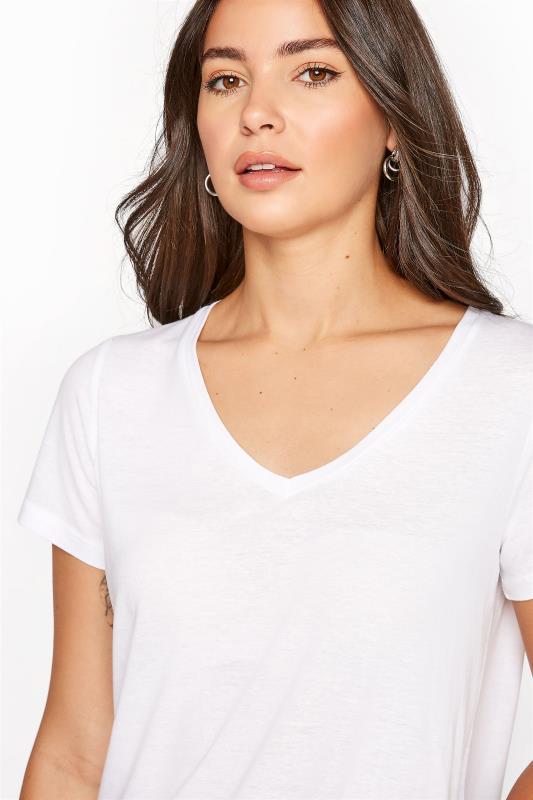 LTS White Linen Blend V-Neck T-Shirt_D.jpg