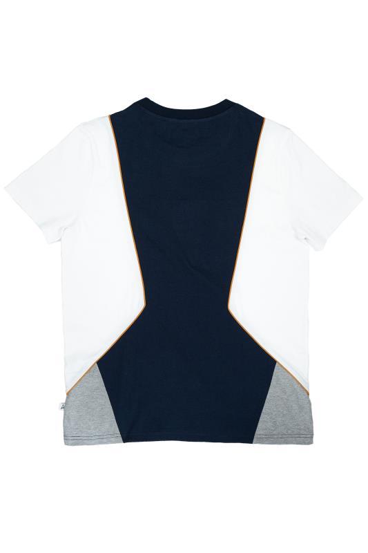 STUDIO A Navy & White Panel Colour Block T-Shirt